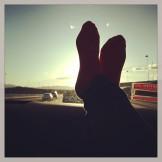 la vuelta a casa desde Las Vegas