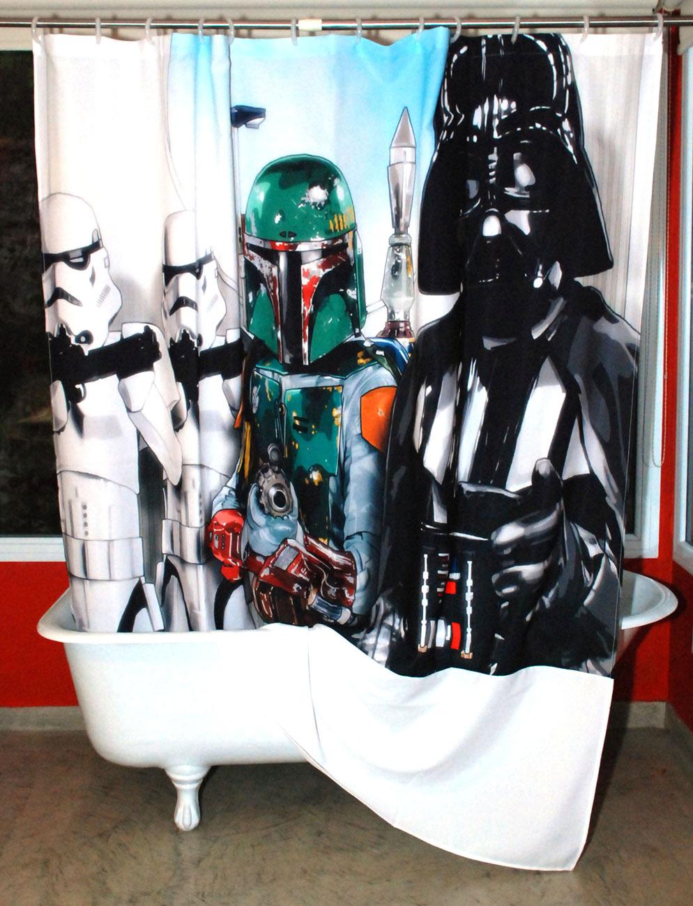 Cortinas De Baño Star Wars:CORTINA DE BAÑO STAR WARS